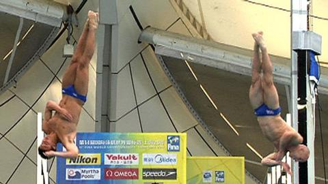 Tom Daley and Pete Waterfield in action in Shanghai