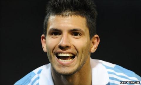Atletico Madrid and Argentina striker Sergio Aguero