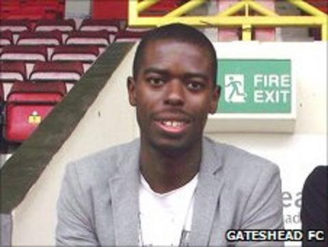 Eddie Odhiambo Photo: Gateshead FC