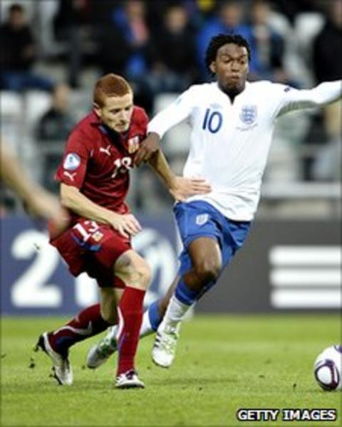 Fulham midfielder Marcel Gecov in action for the Czech Republic Under-21 team