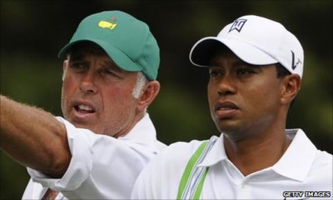 Tiger Woods (right) and Steve Williams
