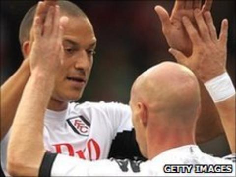 Bobby Zamora and Andy Johnson