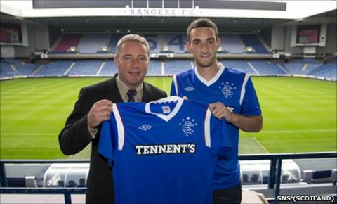 Rangers manager Ally McCoist and defender Lee Wallace