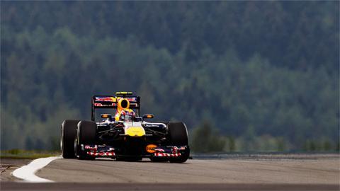 Mark Webber's Red Bull at the German Grand Prix