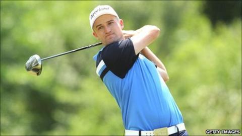 Scottish golfer Russell Knox