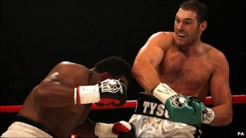 Dereck Chisora (left) and Tyson Fury
