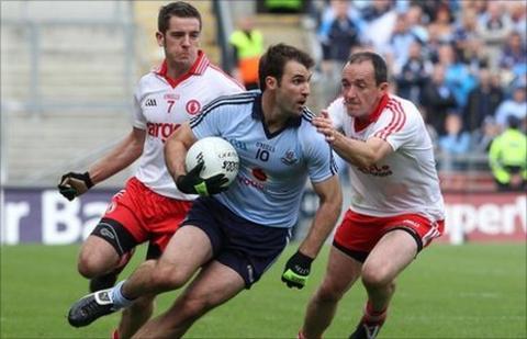 Philip Jordan, Bryan Cullen and Brian Dooher in action in last year's quarter-final