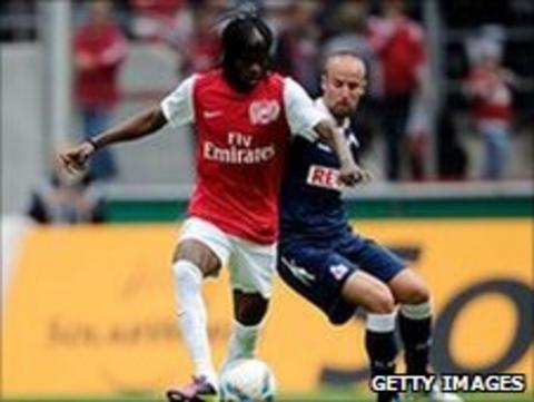 Gervinho goes past Miso Brecko of Cologne