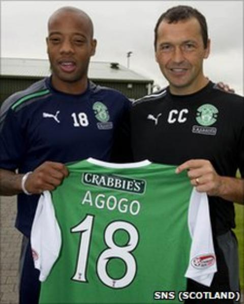 Junior Agogo (left) and Colin Calderwood