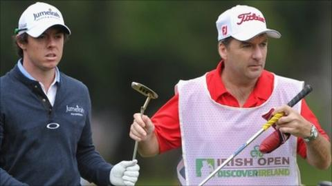 Rory McIlroy and caddie JP Fitzgerald