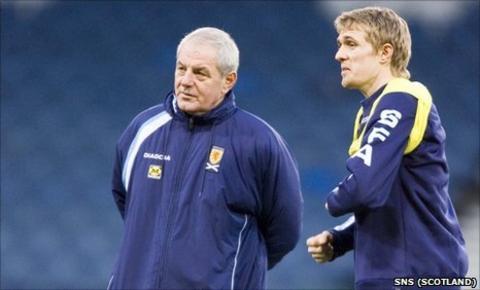 Darren Fletcher and Walter Smith