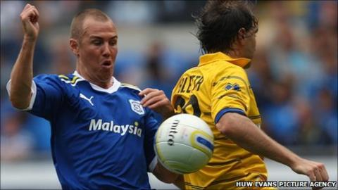Cardiff City striker Kenny Miller
