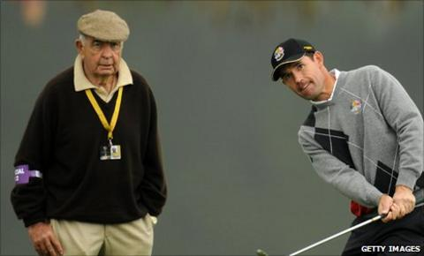 Bob Torrance (left) and Padraig Harrington