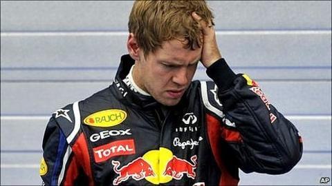 Red Bull's world champion Sebastian Vettel