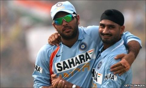 Harbhajan and Yuvraj Singh