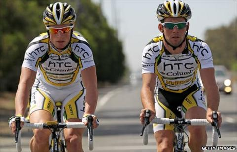 Mark Renshaw and Mark Cavendish