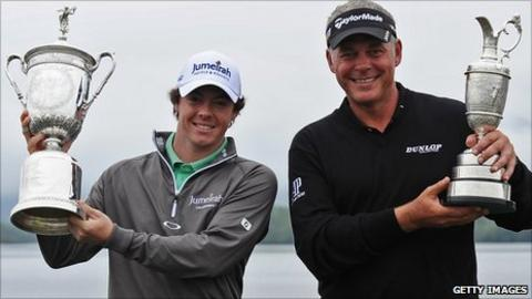 Rory McIlroy and Darren Clarke