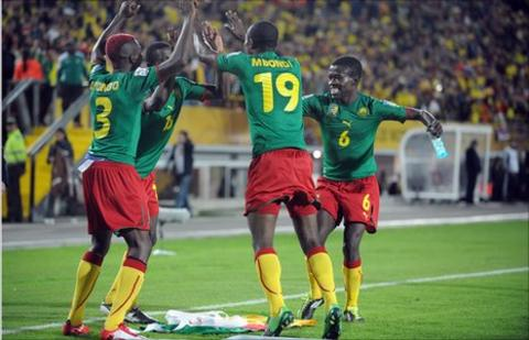 Cameroon players celebrate at U20 World Cup