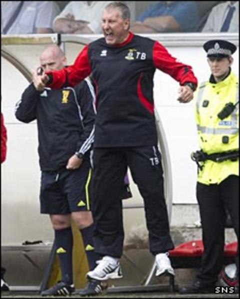 Terry Butcher shows his anger