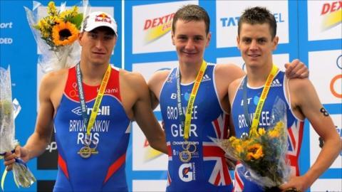 Alexander Bryukhankov, Alistair and Jonathan Brownlee