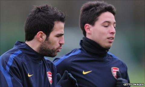 Cesc Fabregas and Samir Nasri