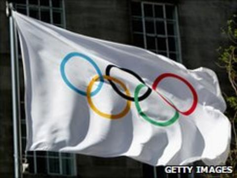 Olympic flag. Photo: Getty Images