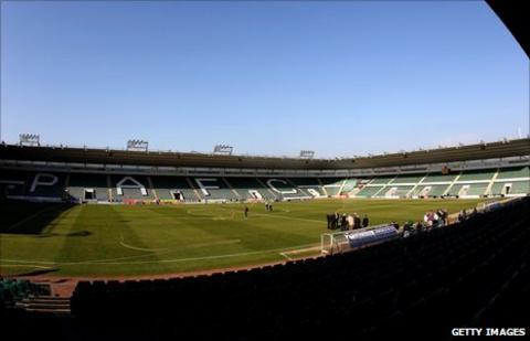 Plymouth Argyle' Home Park ground