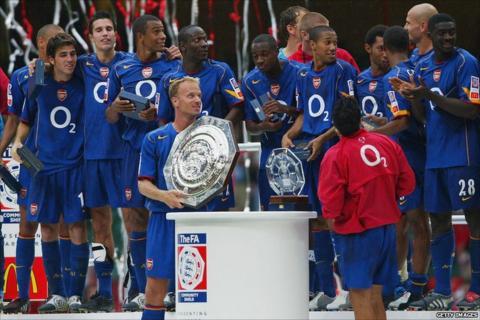 Cesc Fabregas and Arsenal team
