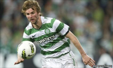 Celtic midfielder Paddy McCourt