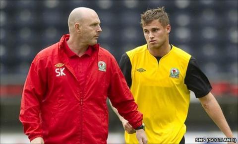 Steve Kean and new Blackburn striker David Goodwillie