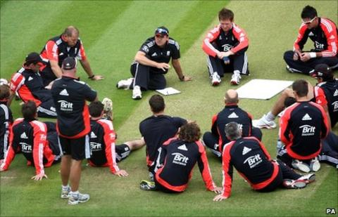 The England Test team