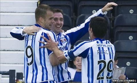 Paul Heffernan celebrates his second goal for Kilmarnock