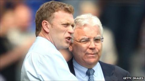 David Moyes and Bill Kenwright