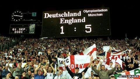 England beat Germany 5-1 in Munich
