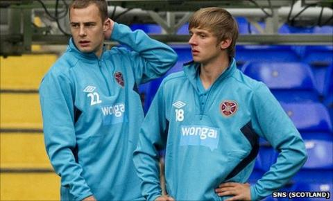 Gordon Smith (left) and Arvydas Novikovas will play against Spurs