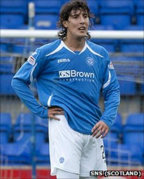 St Johnstone striker Francisco Sandaza