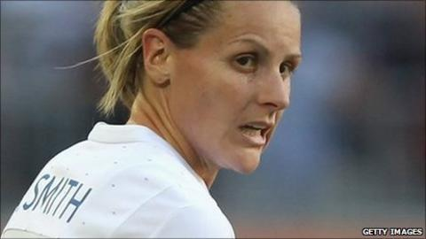 Kelly Smith in action for England