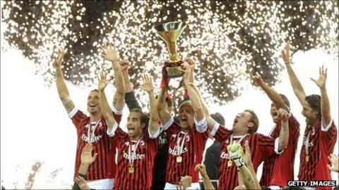AC Milan are the reigning Serie A champions