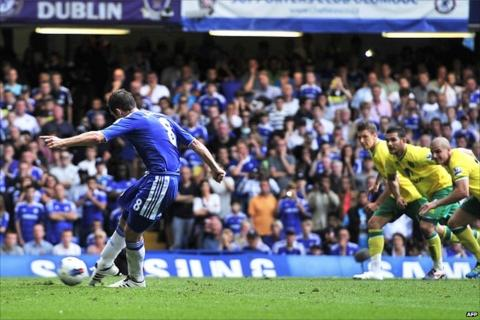 Frank Lampard puts Chelsea 2-1 up