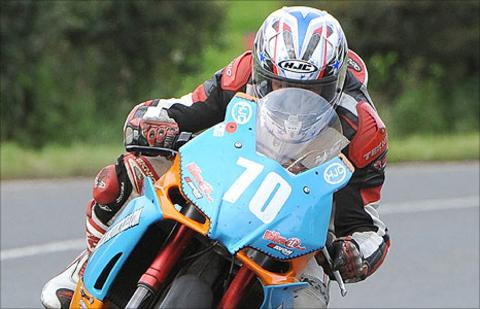 Alan McFarland pictured in 2010 Ulster Grand Prix Supertwins practice