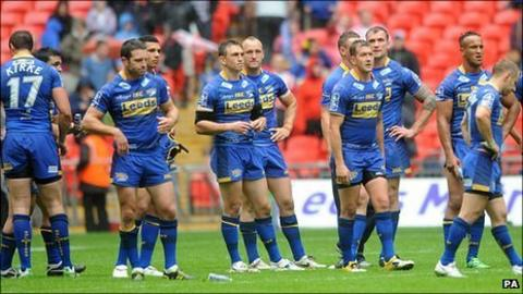 Leeds Rhinos players at Wembley