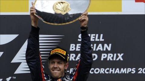 Red Bull driver Sebstian Vettel