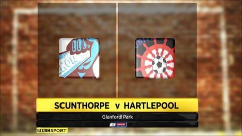 Scunthorpe 2-0 Hartlepool