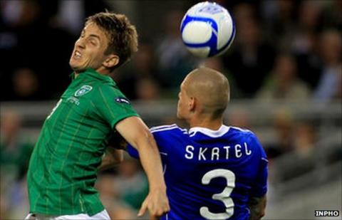Kevin Doyle and Martin Skrtel