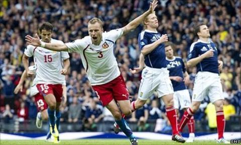 Michal Kadlec celebrates