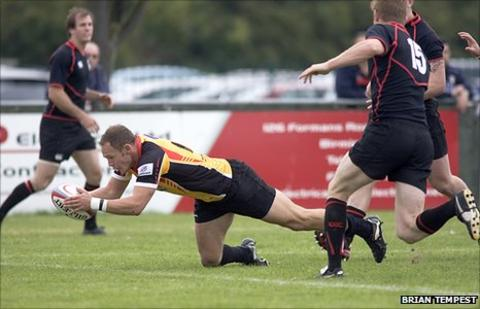Rob cook scores against Moseley