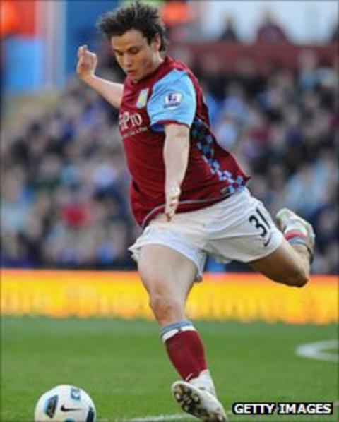 Chris Herd in action for Aston Villa