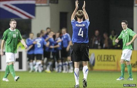 Estonia celebrated a 4-1 win over Northern Ireland in Tallinn