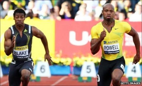 Yohan Blake and Asafa Powell