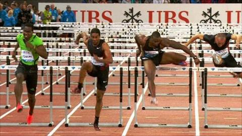 Dayron Robles wins the 110m hurdles in Zurich
